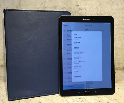 "Samsung Galaxy Tab S2 9.7"" 32GB Wi-Fi Model: SM-T813 in Black w/ Blue Case!"
