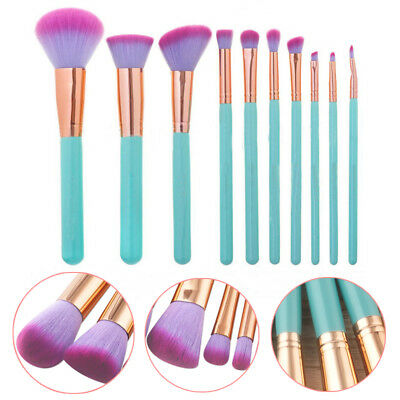 Eyeshadow Makeup Brushes Cosmetic 10Pcs Eyeliner Professional New High Quality