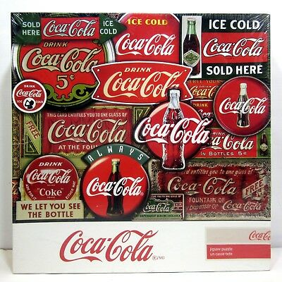 Coca-Cola Classic Signs 2000 Pieces Puzzle By Springbok - New & Sealed