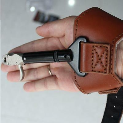 Compound Bow Release Aid Caliper Buckle Cow Leather Wrist Straps Archery Hunting