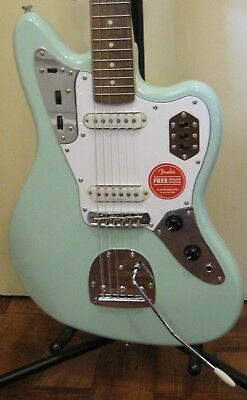 Fender Squier Vintage Modified Jaguar Electric Guitar In Surf Green Seafoam