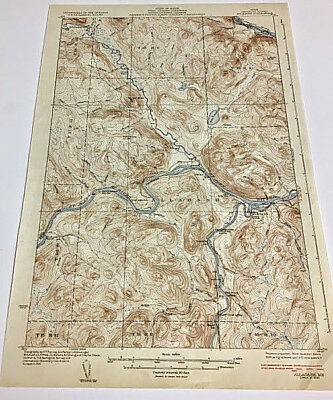 Allagash Quadrangle Aroostook County, Maine Topographical Map Edition of 1933