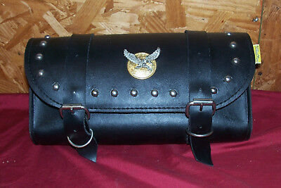 Willie & Max Large Fork Tool Bag Motorcycle Pouch Case Sissy Bar Bike Chopper