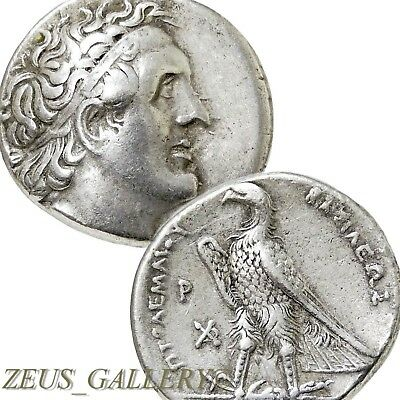 """PTOLEMY I RARE Signed w/Δ by """"Delta Master""""Ancient Greek Silver Tetradrachm Coin"""