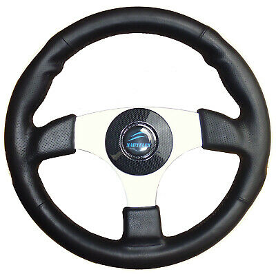 "BOAT STEERING WHEEL ✱SPORTS MODEL✱ 3-Spoke 13.4""-340mm 3/4"" Shaft Alloy Marine"