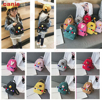 US Toddler Kids Children Girls Cartoon Backpack Schoolbag Shoulder Bag Rucksack