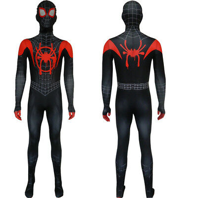 Spider-Man Into the Spider-Verse Jumpsuit Miles Morales Cosplay Costume M - XL