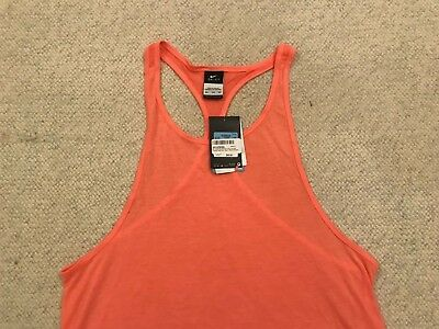 303474a276dd Nike Tank Top Womens Training Dri-Fit Club Coral Running Yoga Racerback Sz.  M