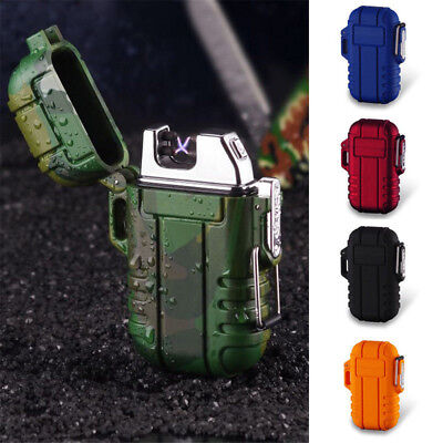 Double Arc Waterproof Wind proof Plasma Electronic Cigare_tte Lighter USB Pulsed