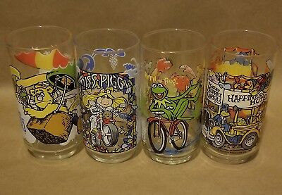 Vintage 1981 McDonald's The Great Muppet Caper Glasses (COMPLETE SET OF 4)