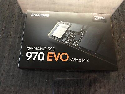 NEW Samsung 970 EVO 250GB SSD Solid State Drive MZ-V7E250BW PCIe NVMe M.2