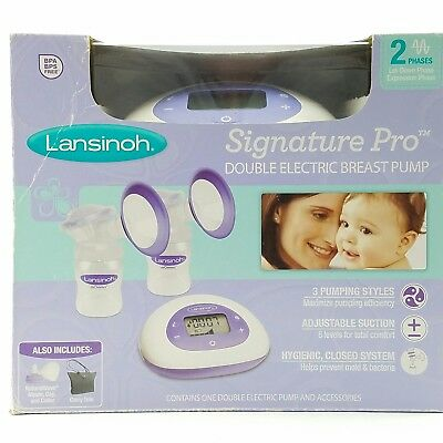 Lansinoh Signature Pro Double Electric Breast Pump BPA Free Sealed Retail Pack A