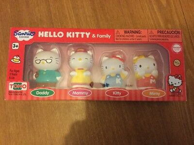 Hello Kitty My Family Brand New Play Set X4 Characters Toy Collectable