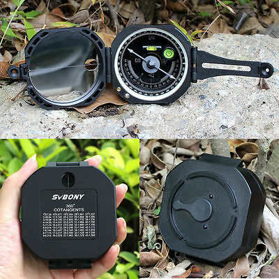AU Pocket Compass Transit Army Geological for Outdoor Sports Camping & Hiking !