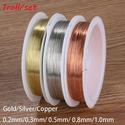 New Beads Alloy gold plated Necklace Jewelry Making Cord String copper wire