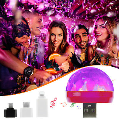 New Disco Party DJ LED RGB Stage Effect Light Lamp Laser Crystal Magic Ball AU