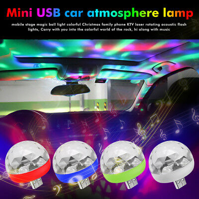 USB LED Disco Stage Light Party Club DJ KTV Magic Lamp Ball For Phone Cool TOP