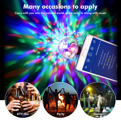 Disco Party DJ LED RGB Stage Effect Light Lamp Laser Crystal Magic Ball 2019