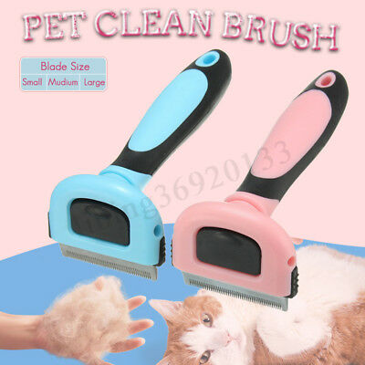 Pet Cat Dog Hair Comb Grooming Brush Stainless Handle Fur Shedding Rakes Tool