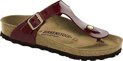 fa521cc288ddc9 BIRKENSTOCK GIZEH MAGIC Snake Bordeaux Größe 38 Fußbett normal - EUR ...
