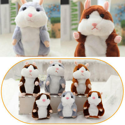 Talking Hamster Mouse Pet Plush Toy Cute Speak Sound Record for Children Baby x1