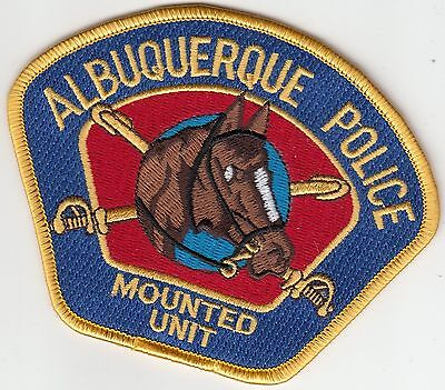 Albuquerque Police Mounted Unit Gold Patch New Mexico Nm