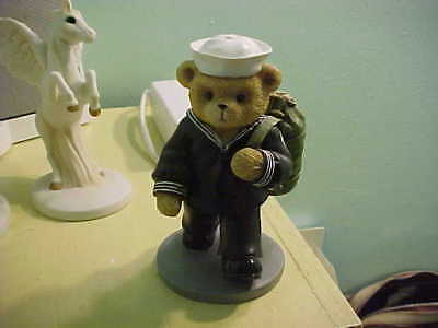 """Hamilton Collection Teddies In The Navy """"shipping Out """"   Mint Condition"""
