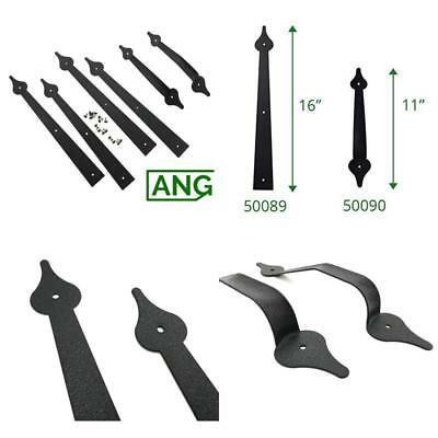 Carriage House Garage Door Decorative Hardware Set - Spear Style