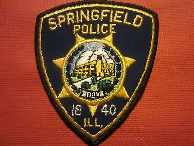 Collectible Illinois Police Patch,Springfield,Capital City