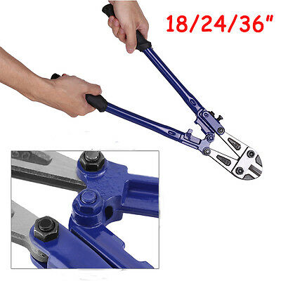 """Quality Heavy Duty Carbon Steel Bolt Cutter 18 24 36"""" Wire Cable Cropper Wang UK"""