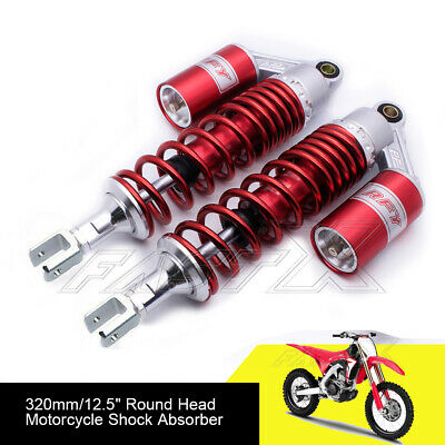 "320mm 12.6"" Motorcycle U Type Rear Air Shock Absorbers For Honda Yamaha Red 1#"