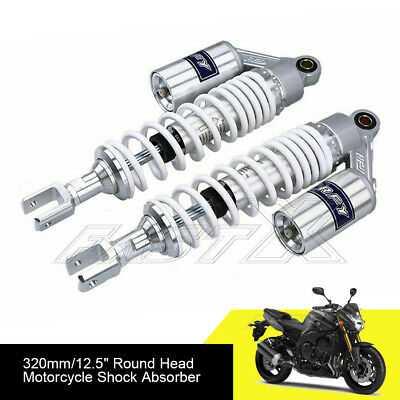 "320mm 12.6"" Motorcycle U Type Rear Air Shock Absorbers For Honda Yamaha White 1#"