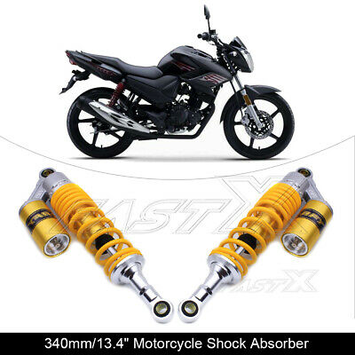"340mm 13.4"" Motorcycle Rear Air Shock Absorbers For BMW Honda Yamaha Yellow 1#"