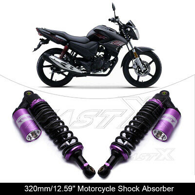 "320mm 12.6"" Motorcycle Rear Air Shock Absorbers For BMW Honda Yamaha Purple 1#"
