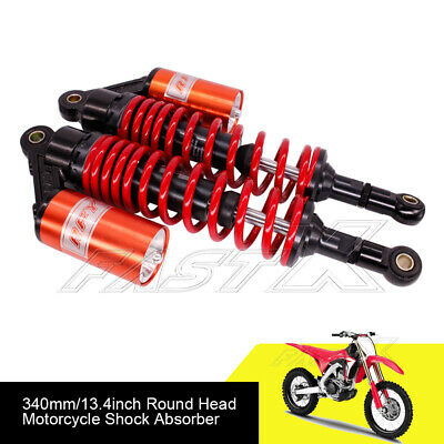 "340mm 13.4"" Motorcycle Rear Air Shock Absorbers For BMW KTM Yamaha Red Black 1#"