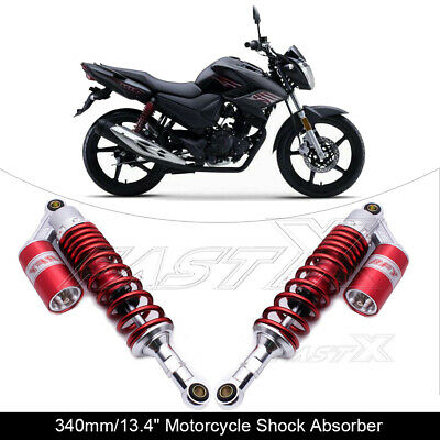 "340mm 13.4"" Motorcycle Rear Air Shock Absorbers For BMW Kawasaki Yamaha Red 1#"