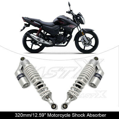 "320mm 12.6"" Motorcycle Rear Air Shock Absorbers For BMW Honda Yamaha White 1#"