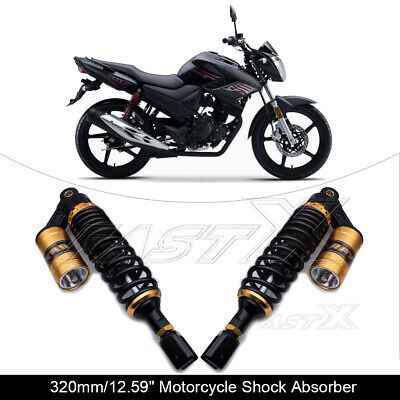 "320mm 12.6"" Motorcycle U Type Rear Air Shock Absorbers For Honda Yamaha Gold 1#"