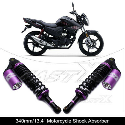 "340mm 13.4"" Motorcycle Rear Air Shock Absorbers For BMW Honda Yamaha Purple 1#"