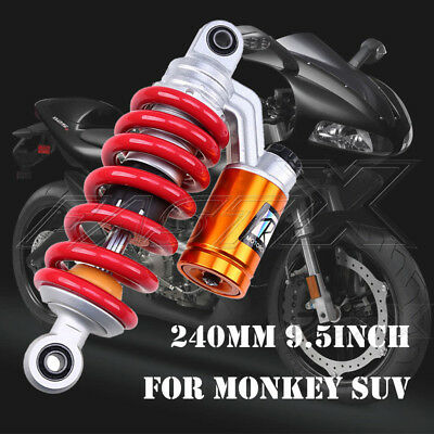 "240mm 9.45"" Motorcycle Rear Air Shock Absorber Suspension For Monkey SUV Red 4#"