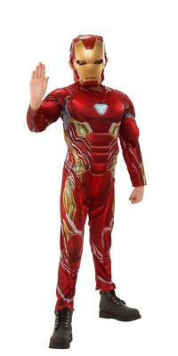 Marvel Avengers Iron Man Muscle Cosplay Halloween Costume Suite & Mask L (10-12)