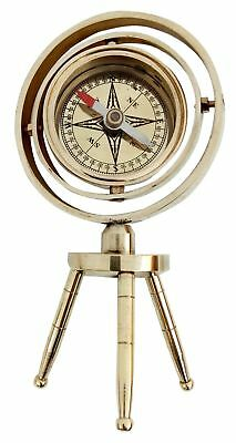 Nautical Solid Brass Shiny Brass Tabletop Compass Vintage Compass Beautiful Gift