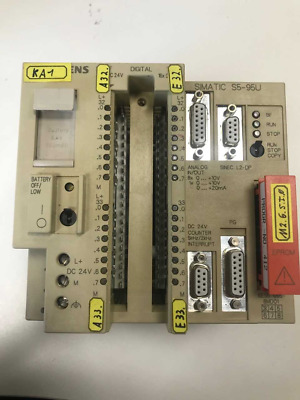 Siemens 6ES5 095-8MD01 CPU with Eprom 6ES5 375-1LA21