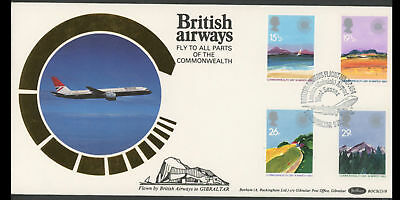 "1983 Commonwealth Illustrated First Day Cover Special British Airways ""Flown"" Co"