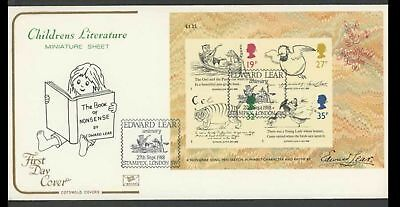 1988 Edward Lear Illustrated First Day Cover Special Stampex, London Handstamp.