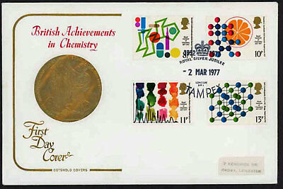 1977 Chemisty Illustrated First Day Cover Special Stampex Handstamp.