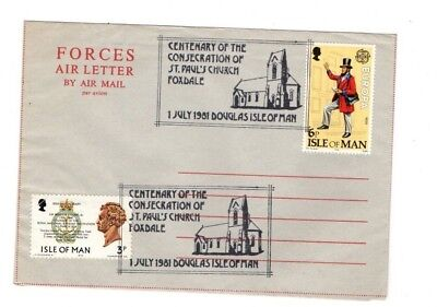 1981 Isle Of Man Used Forces Aerogramme From Collection 4B/11