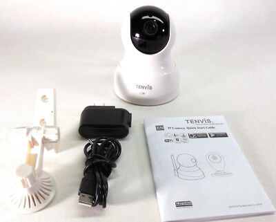 TENVIS TH661 HD Wireless Two way Audio Night Vision 2.4GHz IP Camera #290262