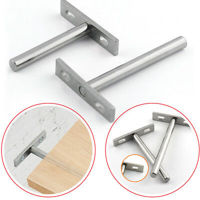 Invisible Floating shelf Brackets Concealed Hidden Support Screw Mounting Plate