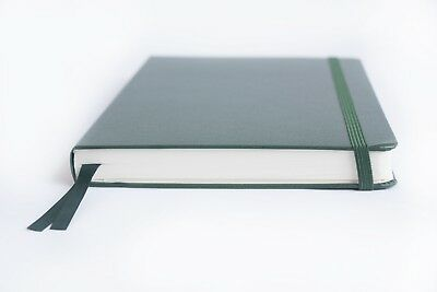 Bullet Journal - A5 Dot Grid Hard Cover Notebook, Green Thick Paper, 220 pages